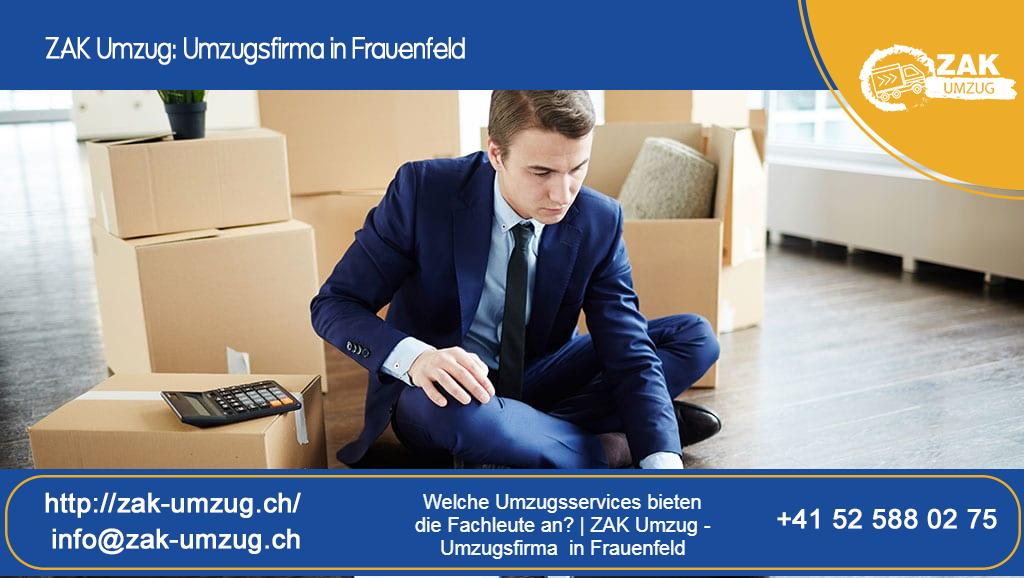 Welche Umzugsservices bieten die Fachleute an? | ZAK Umzug - Umzugsfirma in Frauenfeld